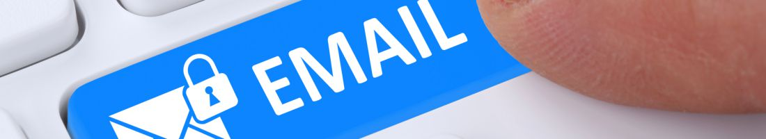 Sending encrypted E-Mail email protection secure mail via internet on computer with letter symbol